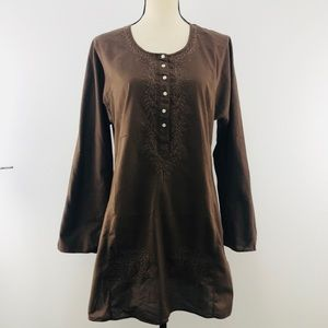 🆕J. Crew Embroidered Tunic 100% Cotton Size M